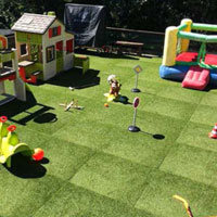 Artificial Grass and Rubber Tiles